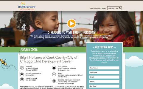 Screenshot of Landing Page brighthorizons.com - Bright Horizons® | Child Care, Back-Up Care, Early Education, and Work/Life Solutions - captured Sept. 25, 2017