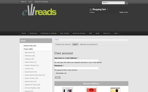 Screenshot of Login Page kindlebooks.co.za - User account | www.kindlebooks.co.za - captured Oct. 6, 2014