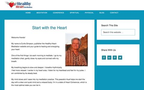 Screenshot of About Page healthy-heart-meditation.com - About Healthy Heart Meditation - captured May 17, 2017