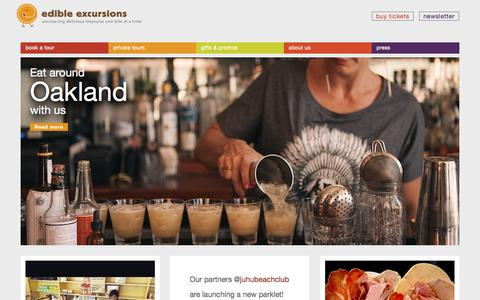 Screenshot of Home Page edibleexcursions.net - Edible Excursions | Best Bay Area Walking Food Tours - captured July 19, 2015