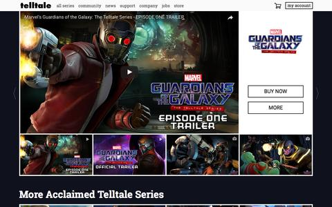 Screenshot of Home Page telltale.com - Home - Telltale - captured May 8, 2017