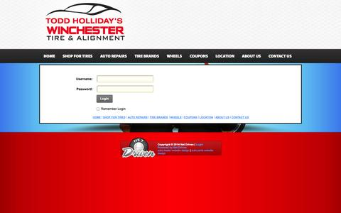 Screenshot of Login Page winchestertire.com - User Log In - captured Oct. 7, 2014