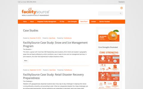 Screenshot of Case Studies Page facilitysource.com - FacilitySource /facility management case studies - captured Sept. 30, 2014