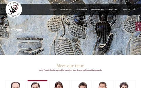 Screenshot of Team Page vottovines.com - Our Team | Vottovines - Home - captured Oct. 7, 2014
