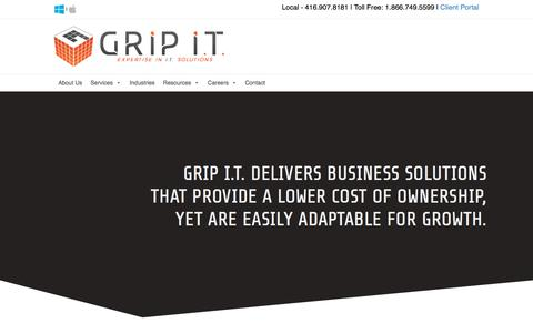 Screenshot of About Page gripit.ca - GRIP I.T. | At A Glance - GRIP I.T. - captured July 19, 2019