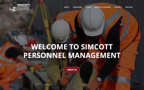 Screenshot of Home Page simcottpersonnel.co.uk - Simcott Personnel Management - captured Nov. 12, 2018