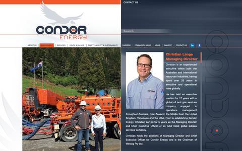 Screenshot of Team Page condorenergy.com.au - Management | Condor Energy - captured Sept. 29, 2018