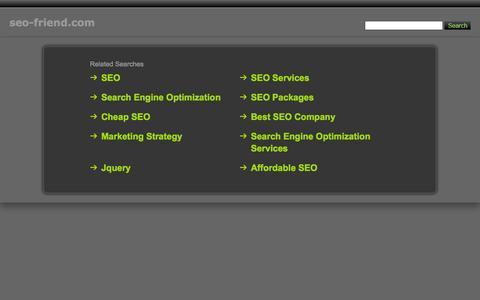Screenshot of Home Page seo-friend.com - Seo-Friend.com - captured Sept. 24, 2014