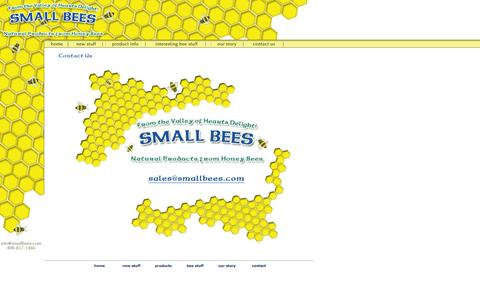 Screenshot of Contact Page smallbees.com - Small Bees - Products from Honey Bees - captured Sept. 30, 2014