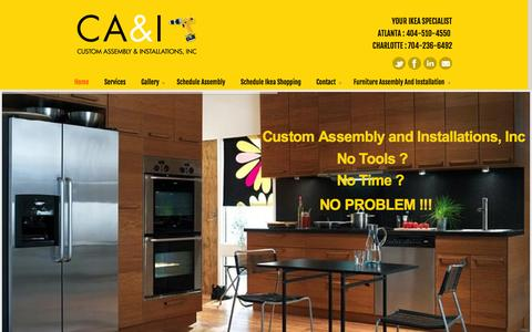 Screenshot of Home Page caiatl.com - IKEA Furniture Assembly Expert Atlanta | Custom Assembly & Installations - captured Oct. 3, 2014