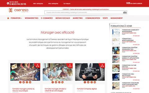 Screenshot of Team Page osereso.com - Management - captured Aug. 31, 2016