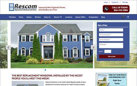 Screenshot of Terms Page iwantnewwindows.com - Rescom Replacement Windows and Doors | Vinyl Replacement Windows Boston MA New England - captured Oct. 6, 2014