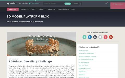 Screenshot of Blog cgtrader.com - 3D Model Platform Blog - CGTrader.com - captured July 18, 2014