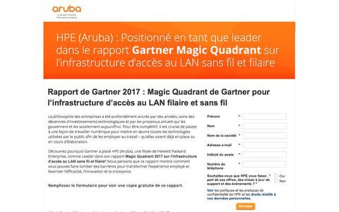 Screenshot of Landing Page arubanetworks.com captured Dec. 1, 2017