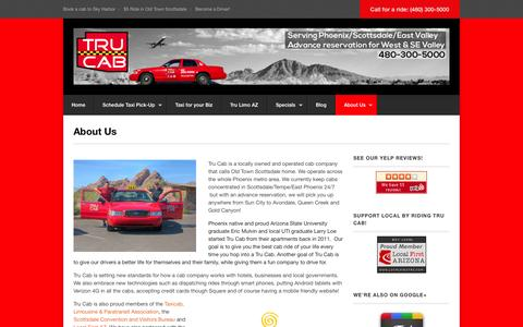 Screenshot of About Page trucab.com - About Us - Tru Cab - captured Oct. 9, 2014