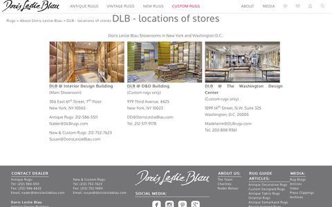 Screenshot of Contact Page Locations Page dorisleslieblau.com - DLB - locations of stores by Doris Leslie Blau - captured June 5, 2017