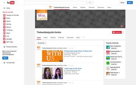 Screenshot of YouTube Page youtube.com - Thebestdealguide Gordon  - YouTube - captured Nov. 23, 2015