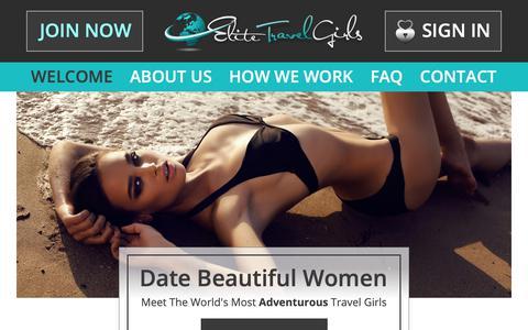 Screenshot of Home Page elitetravelgirls.com - Elite Travel Girls - Meet The World's Most Beautiful Travel Girls - captured Nov. 25, 2018