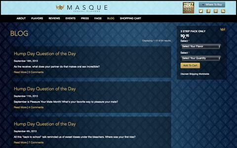 Screenshot of Blog yourmasque.com - Blog   Masque - captured Nov. 3, 2014