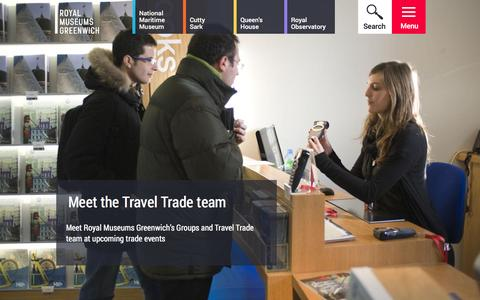 Screenshot of Team Page rmg.co.uk - Meet the Travel Trade team | Royal Museums Greenwich - captured Jan. 19, 2016