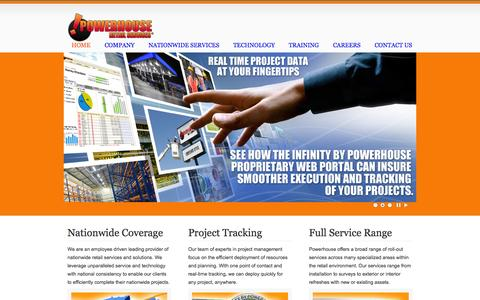 Screenshot of Home Page powerhouseretailservices.com - powerhouseretailservices.com - captured Sept. 30, 2014