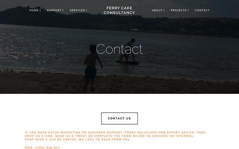 Screenshot of Contact Page ferrycake.com - Contact — Ferry Cake Consultancy - captured Nov. 3, 2014