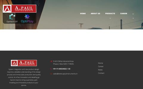 Screenshot of Press Page apaulinstruments.in - News – A-Paul Instruments - captured July 18, 2018