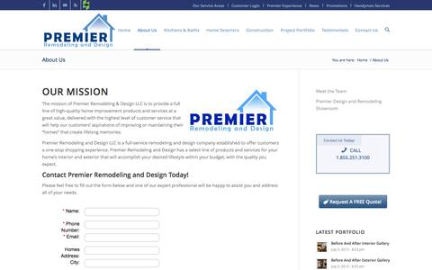Screenshot of About Page premierremodels.com - About Us - captured Oct. 3, 2014