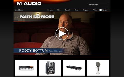 Screenshot of Support Page m-audio.com - M-Audio - Acclaimed audio interfaces, studio monitors, and keyboard controllers - captured June 16, 2015