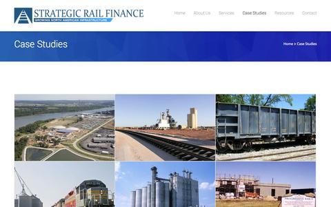 Screenshot of Case Studies Page strategicrail.com - Strategic Rail FinanceCase Studies - Strategic Rail Finance - captured Oct. 7, 2014