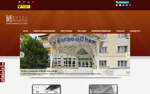 Screenshot of Home Page hotelborsodchem.hu - Hotel BorsodChem*** - captured Oct. 3, 2014