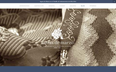 Screenshot of Blog aguasdemarzo.com - Blog — AGUAS DE MARZO ® | Indumentaria valenciana - captured Sept. 30, 2014