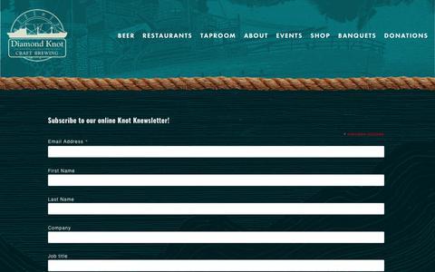 Screenshot of Press Page diamondknot.com - Knot Knews — Diamond Knot Brewing - captured Oct. 9, 2018