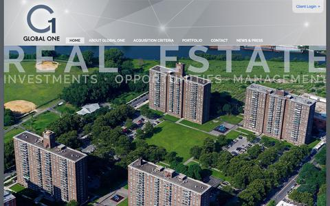 Screenshot of Home Page globaloneinvestors.com - Global One Investments – New York City Real Estate - captured Oct. 26, 2018