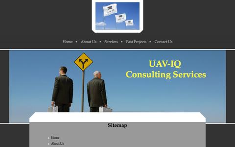 Screenshot of Site Map Page uaviqconsulting.com - - Home - captured Oct. 29, 2014
