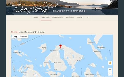 Screenshot of Maps & Directions Page orcasislandchamber.com - Maps of Orcas Island – Orcas Island Chamber of Commerce - captured Nov. 8, 2018