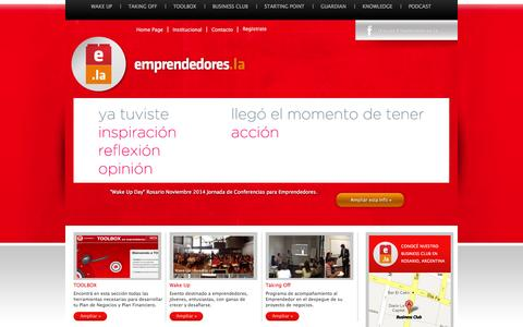 Screenshot of Home Page Blog emprendedores.la - Emprendedores.la - captured Oct. 2, 2014