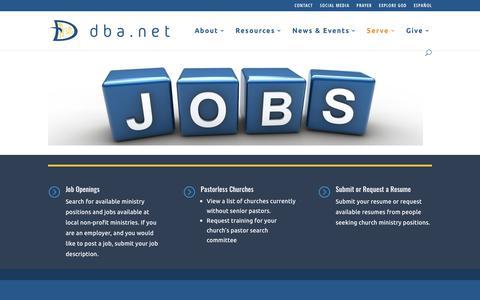 Screenshot of Jobs Page dba.net - Jobs | DBA.NET - captured Nov. 13, 2018