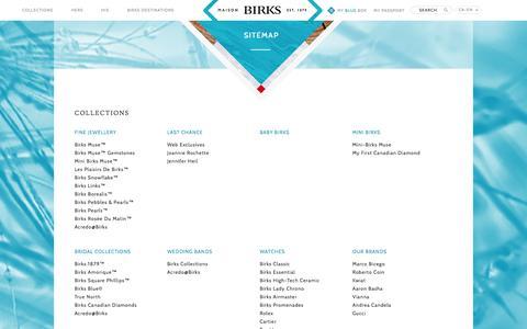 Screenshot of Site Map Page maisonbirks.com - Sitemap - captured Sept. 23, 2014