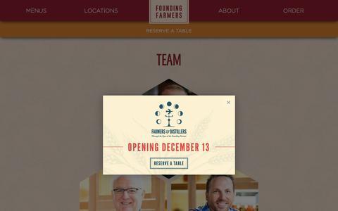 Screenshot of Team Page wearefoundingfarmers.com - Team | Founding Farmers - captured Nov. 25, 2016