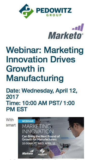 Marketing Innovation Drives Growth in Manufacturing