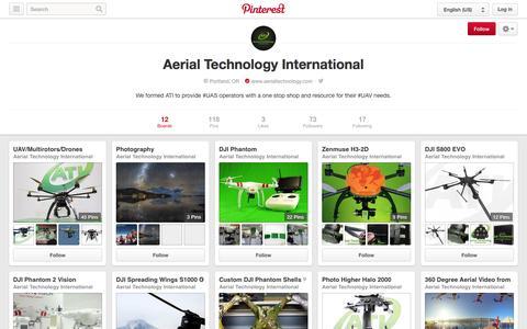 Screenshot of Pinterest Page pinterest.com - Aerial Technology International on Pinterest - captured Nov. 2, 2014