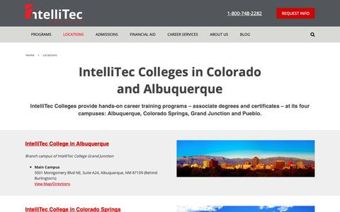 Screenshot of Locations Page intelliteccollege.com - Trade Schools in Colorado and New Mexico | IntelliTec College - captured Nov. 6, 2018