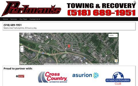 Screenshot of Maps & Directions Page perlmans.com - Map – Perlman's Towing & Recovery - captured Nov. 5, 2016