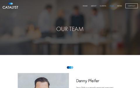 Screenshot of Team Page catalystgrouponline.com - Team — Catalyst - captured Sept. 25, 2018