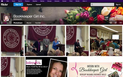 Screenshot of Flickr Page flickr.com - Flickr: BookkeeperGirl's Photostream - captured Oct. 23, 2014