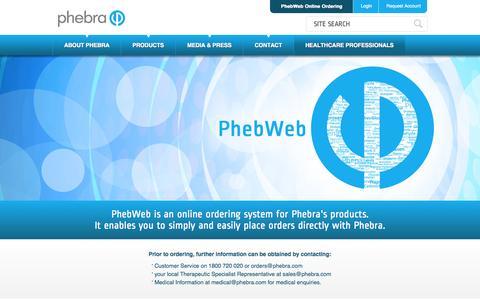 Screenshot of Login Page phebra.com - Authentication - Phebra - captured Oct. 2, 2014