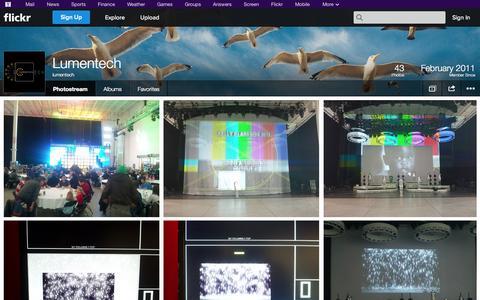 Screenshot of Flickr Page flickr.com - Flickr: lumentech's Photostream - captured Oct. 23, 2014