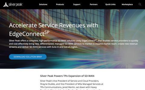 Silver Peak Service Provider SD-WAN & Hybrid WAN Solutions
