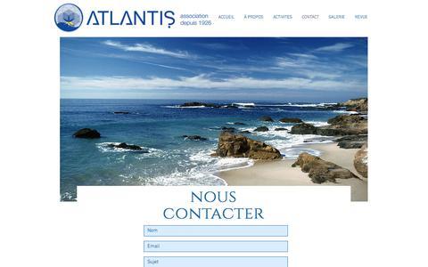 Screenshot of Contact Page association-atlantis.org - Association Atlantis : tradition & conscience - captured Feb. 20, 2018
